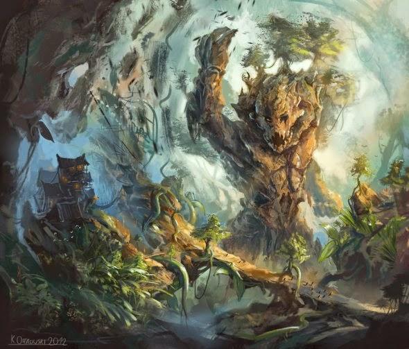 Chris Ostrowski najtkriss deviantart ilustrações fantasia ficção científica cenários paisagens