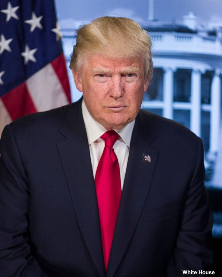 PRESIDENT DONALD J. TRUMP, 45TH PRESIDENT OF THE UNITED STATES, 1/20/2017