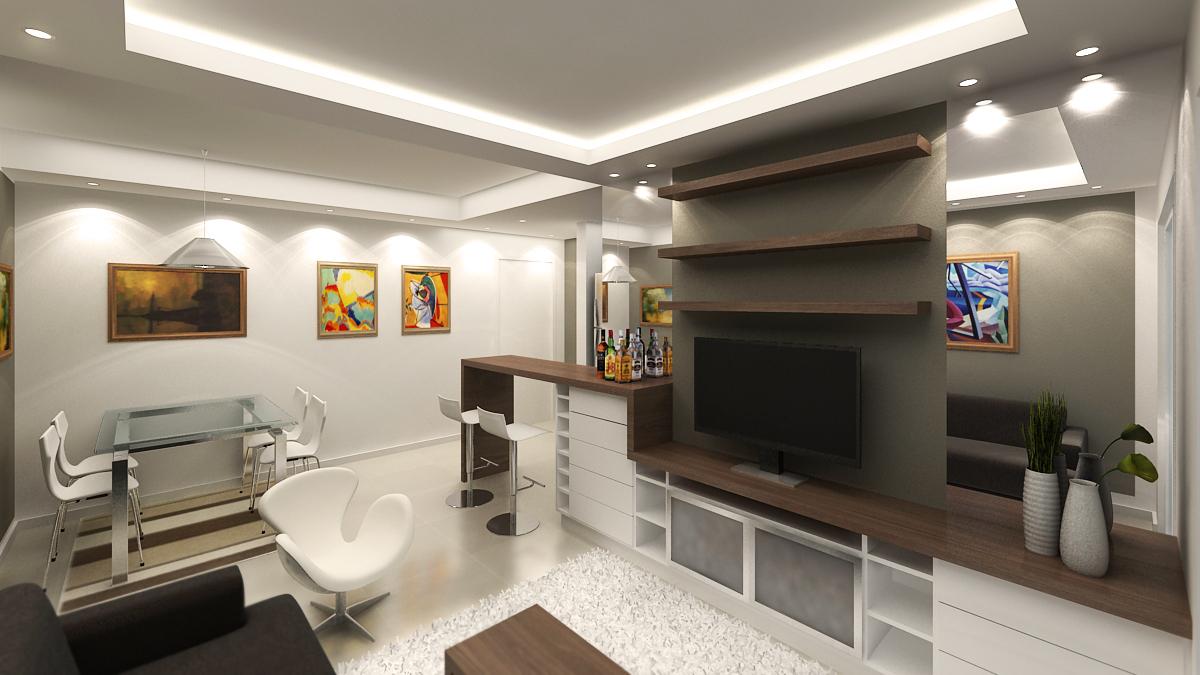 pro3d studio projeto mobili rio para apartamento ana