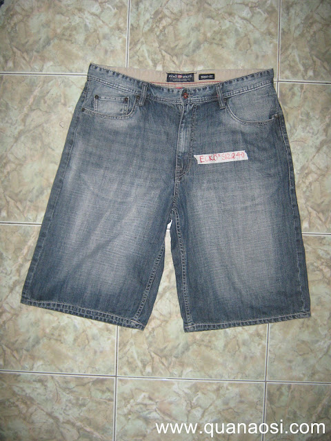 Quần short jean hiệu ECKO wash xám size 40 250k