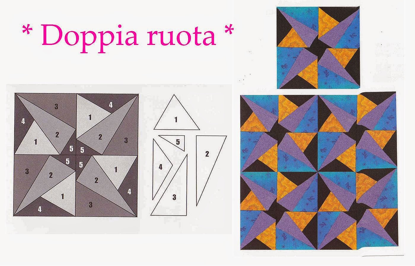 schema patchwork fai da te,hobby patchwork