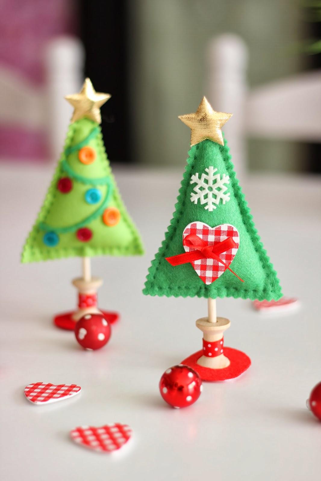 Mi hogar de patchwork arbol de navidad de fieltro - Arbolito de navidad ...