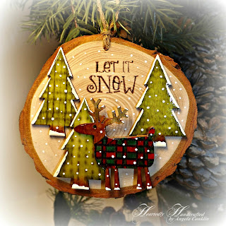 Make Your Own Rustic and Adorable Country Inspired Wood Slice Ornament