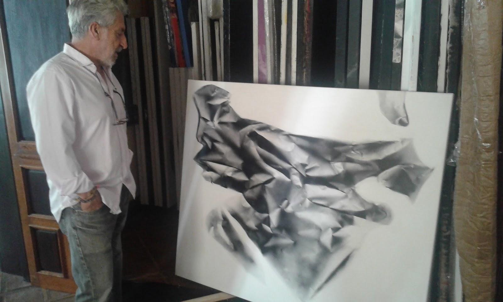 el pasado viernes visit el estudio de jos miguel roy anglada era la ltima oportunidad de ver algunas obras que el maestro madrileo afincado en marbella
