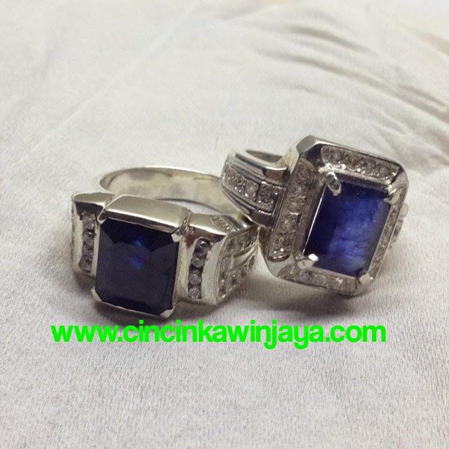 cincin kawin blue sapphire
