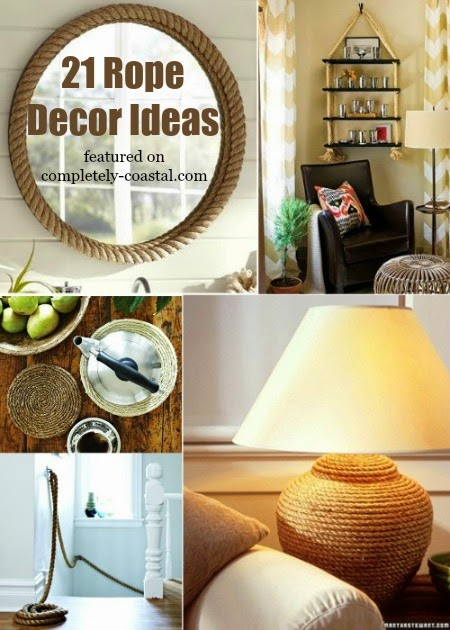 21 nautical rope decor craft ideas coastal decor ideas