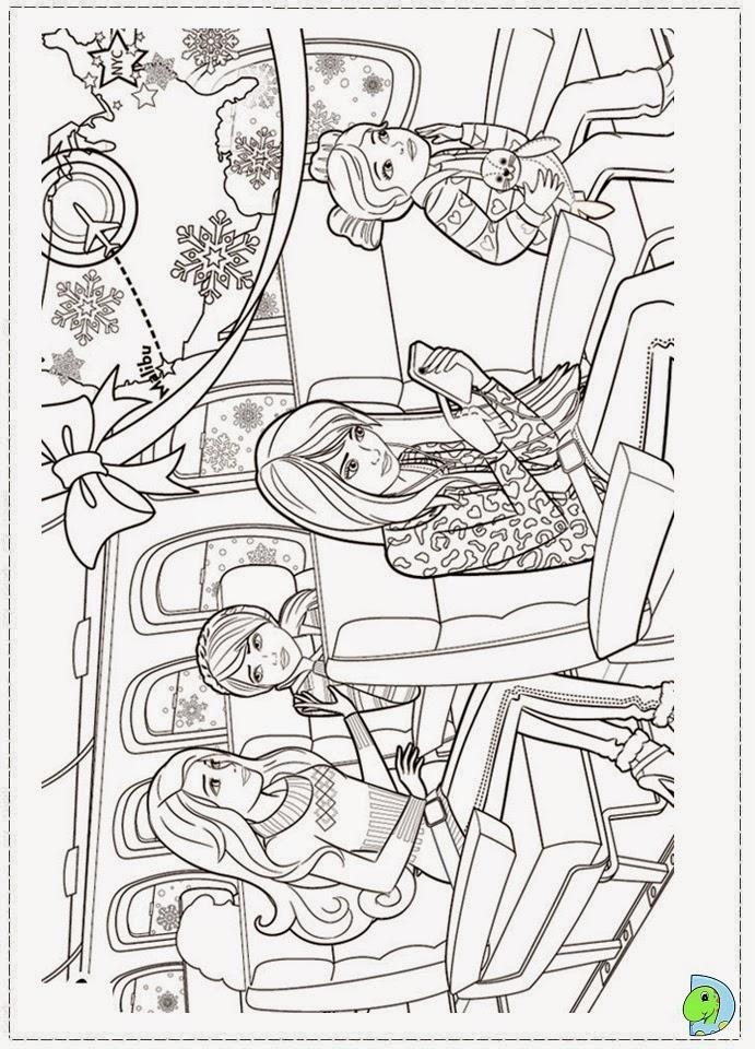 imagens da barbie um natal perfeito para colorir - Dinokids Desenhos para colorir Barbie