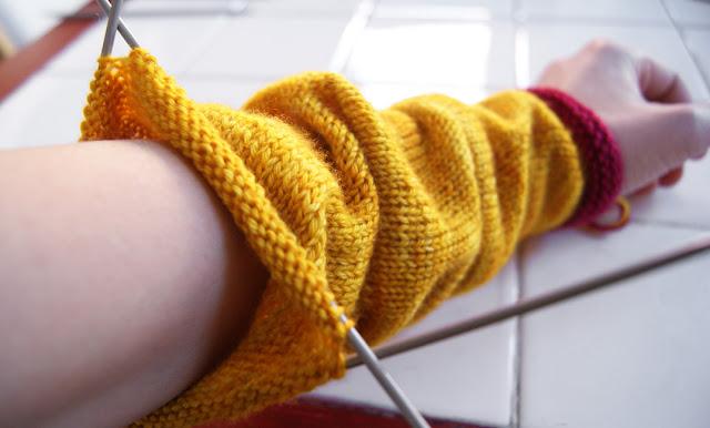 Comment tricoter en rond - manche de chandail