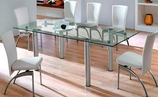 Mesas de vidro para cozinha