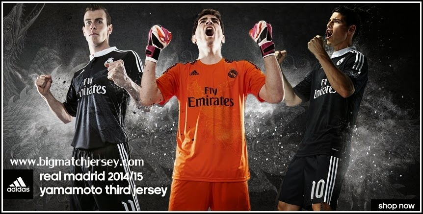 Detail Jersey Real Madrid 3rd Dragon 2015