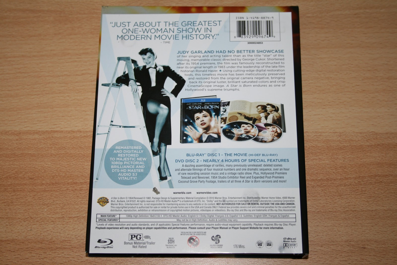 Release country & date: the US, 2010. Region: Region Free Num. of discs: 1 BD + 1 DVD Packaging notes: digibook. Numbered: no. Additional notes: N/A