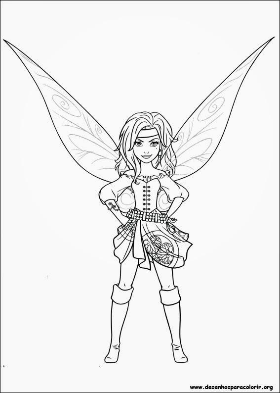 Tinker Bell e a Fada Pirata Desenhos para Colorir