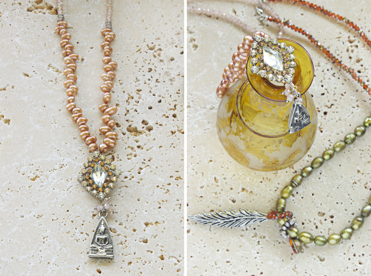 Bohemian necklaces by Quiet Lion Creations
