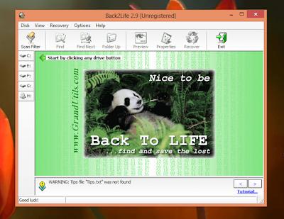 تحميل وشرح Back2Life استعادة الملفات المحذوفة الاسهل والاقوى