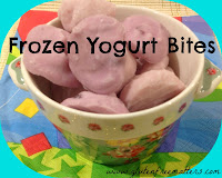 frozen yogurt bites in a bowl
