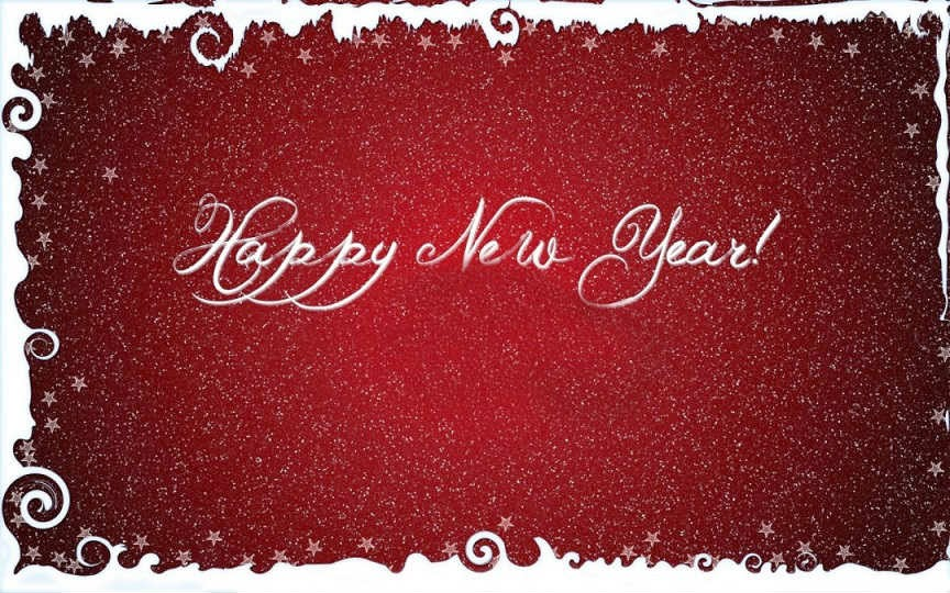 happy new year hd greeting card