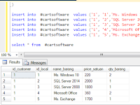 SQL Server Temp Table