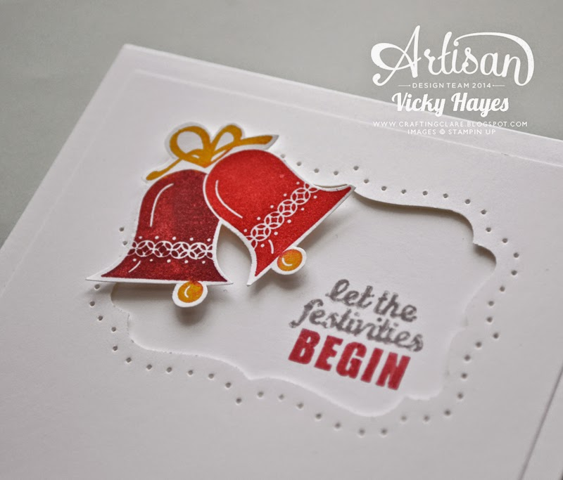 Project Life stamp sets like Holiday Cheer can also be used  to add a greeting to cards!