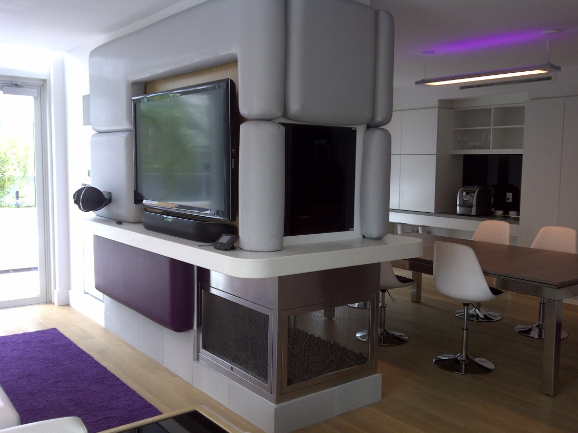 Hearth Cabinet Ventless Fireplaces Three Sided Hearth Cabinet Fireplace In Yotel S Vip Suites