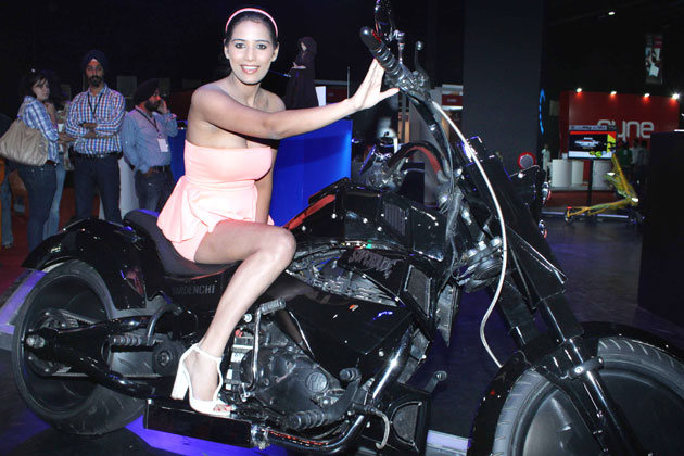 Poonam Pandey 'nasha' Rides a Bike Photo Gallery