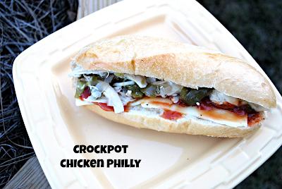 Crockpot Chicken Philly Sandwich