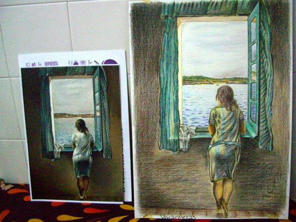 Muchacha en la ventana, copia para concurso