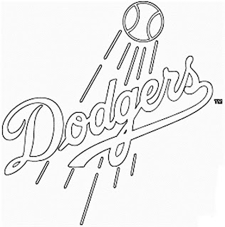 Escudo de los Dodgers para colorear