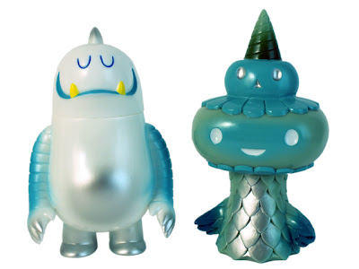 Super7 - Abominable Leroy C. Vinyl Figure by Invisible Creature &amp; Hues of Blues DokuDuo Vinyl Figure by Brian Flynn