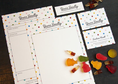 Yours Sweetly - New talent package including letterhead, invoice, business card and visual identity