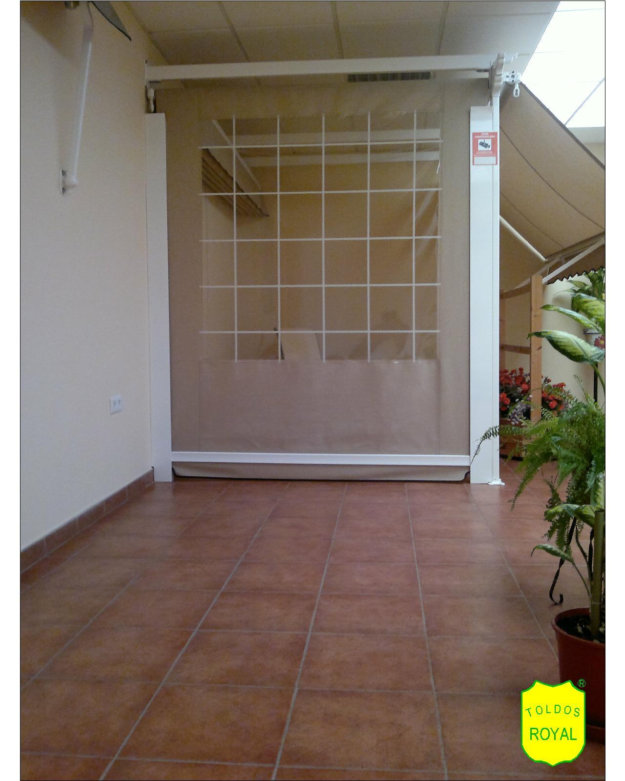 Estructura de toldos modelo t nel plegable toldos - Cortavientos terraza ...