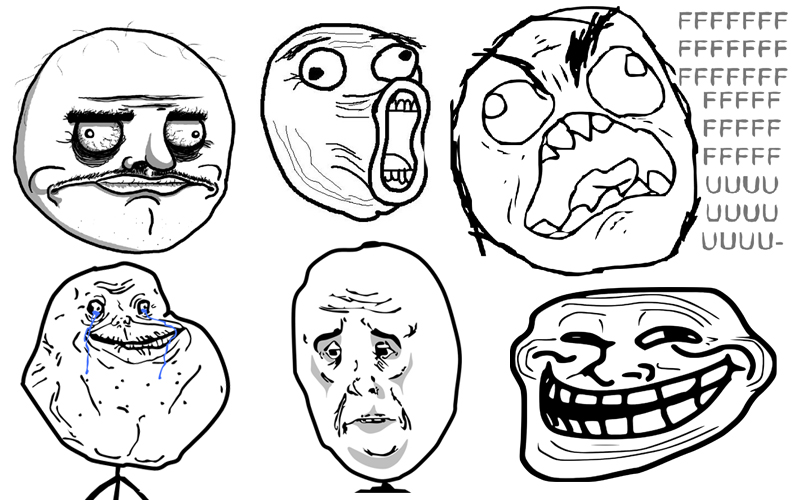 As faces dos memes - parte 1
