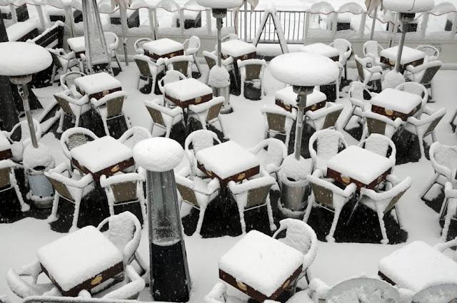 Прошлой зимой Европу засыпали сильнейшие снегопады