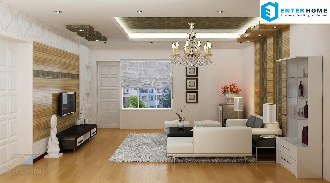 Thiết kế nội thất phòng khách đẹp nhất hà nội
