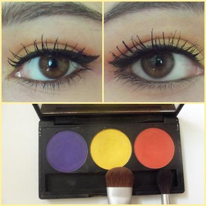 inglot palette yellow orange eye makeup