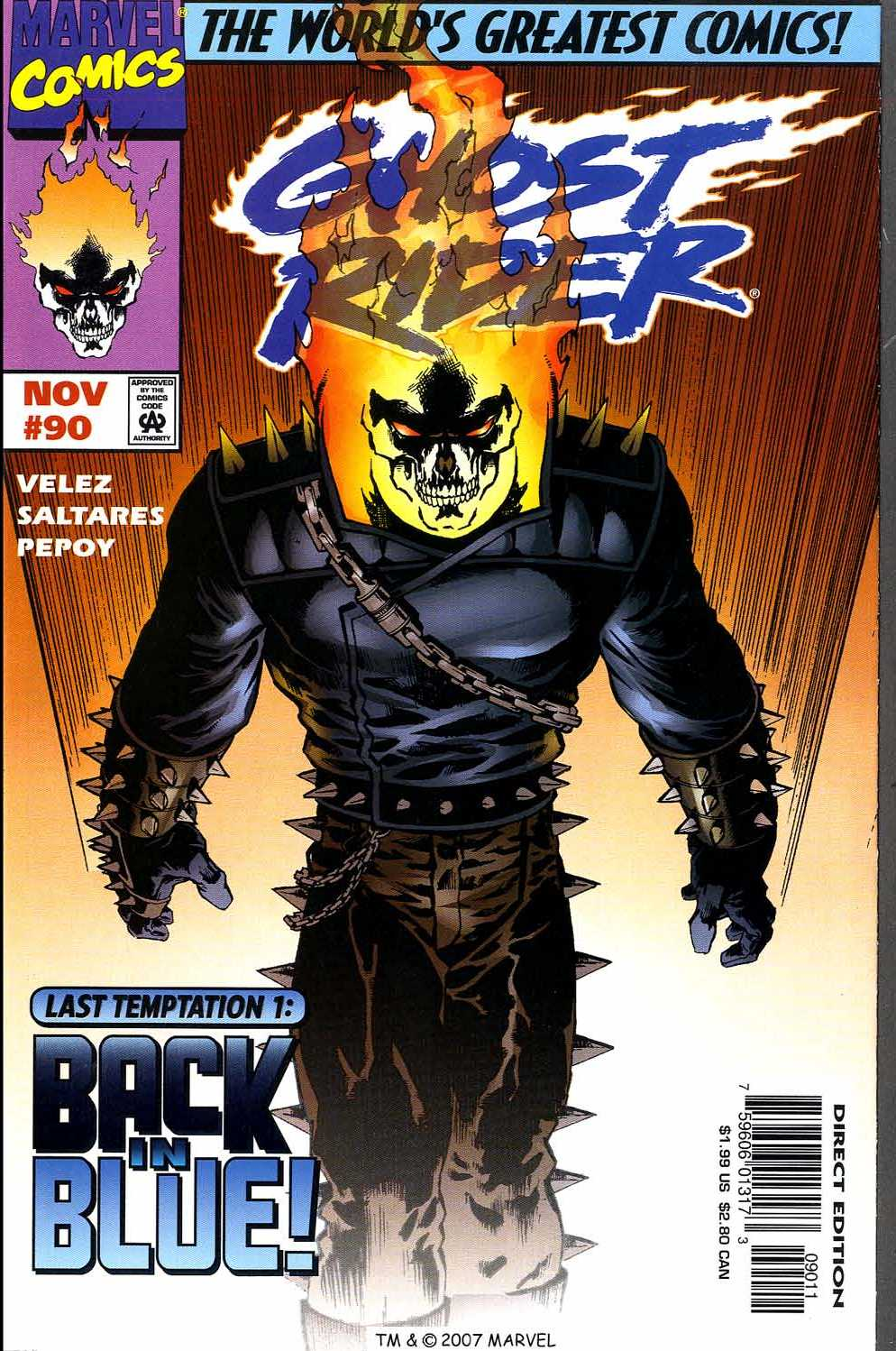 Read online Ghost Rider (1990) comic -  Issue #90 - 1