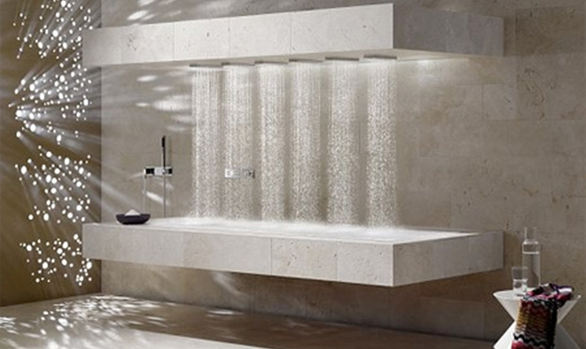 Home Decorating Ideas: The latest in interior design: horizontal showers