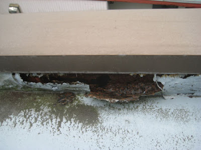 横浜市 都築区 陸屋根 雨漏り 調査 点検 笠木 錆 劣化