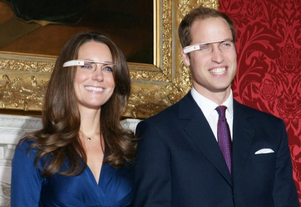 Prince William and beautiful wife Catherine Middleton wearing Google glass
