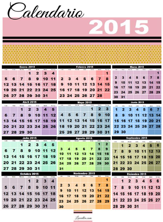 Captura pantalla Calendario 2015 12 meses por página