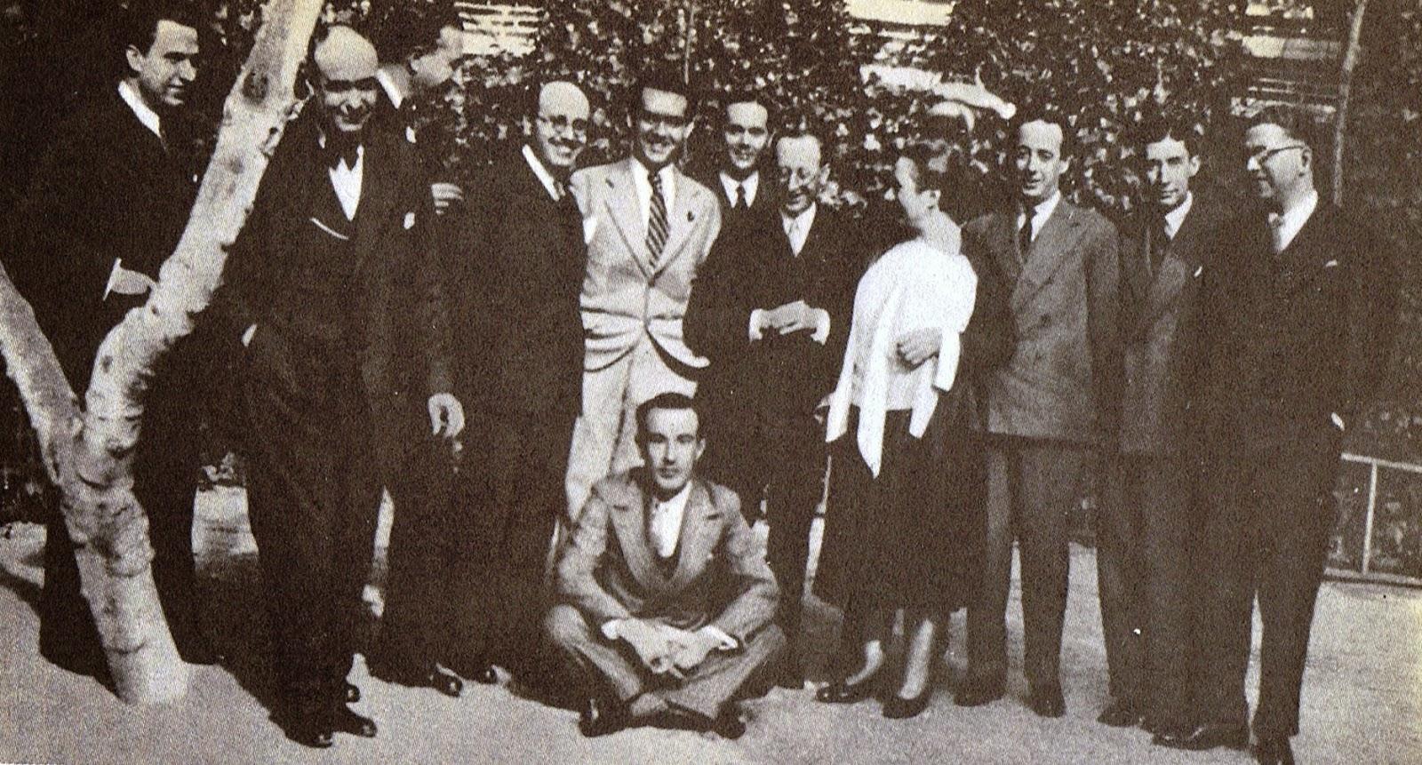 Lorca en un homenaje a Matilde Pomés