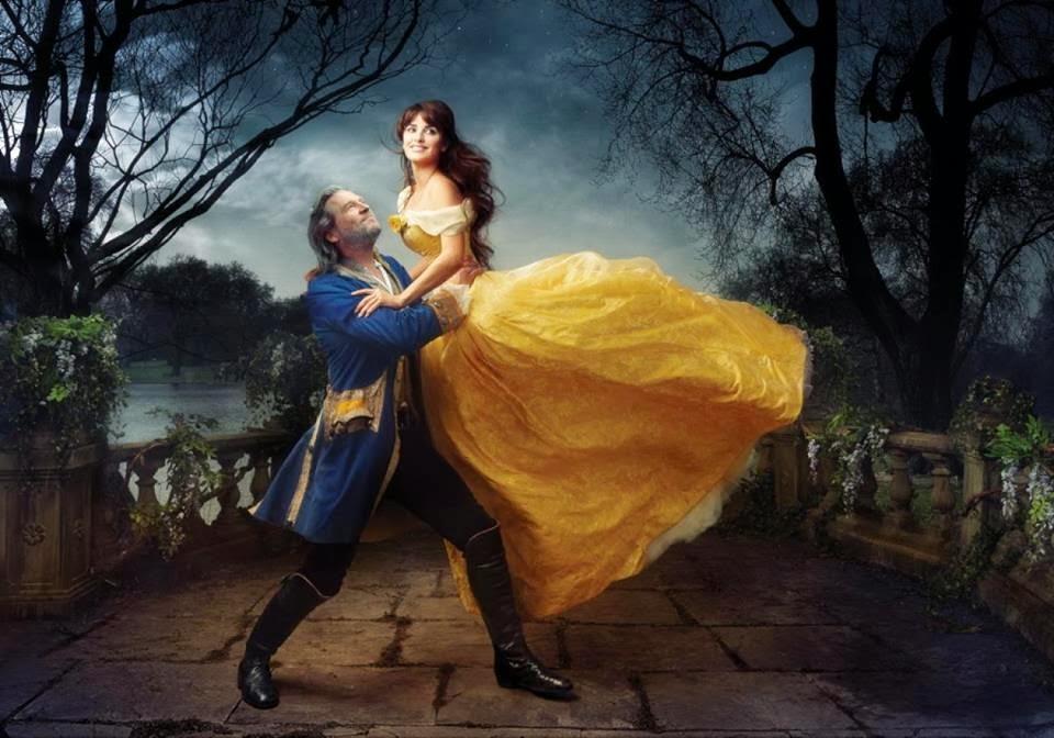 Penélope Cruz y Jeff Bridges como La Bella y la Bestia
