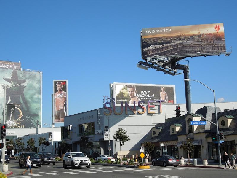 David Beckham H&M underwear Spring 2013 billboards
