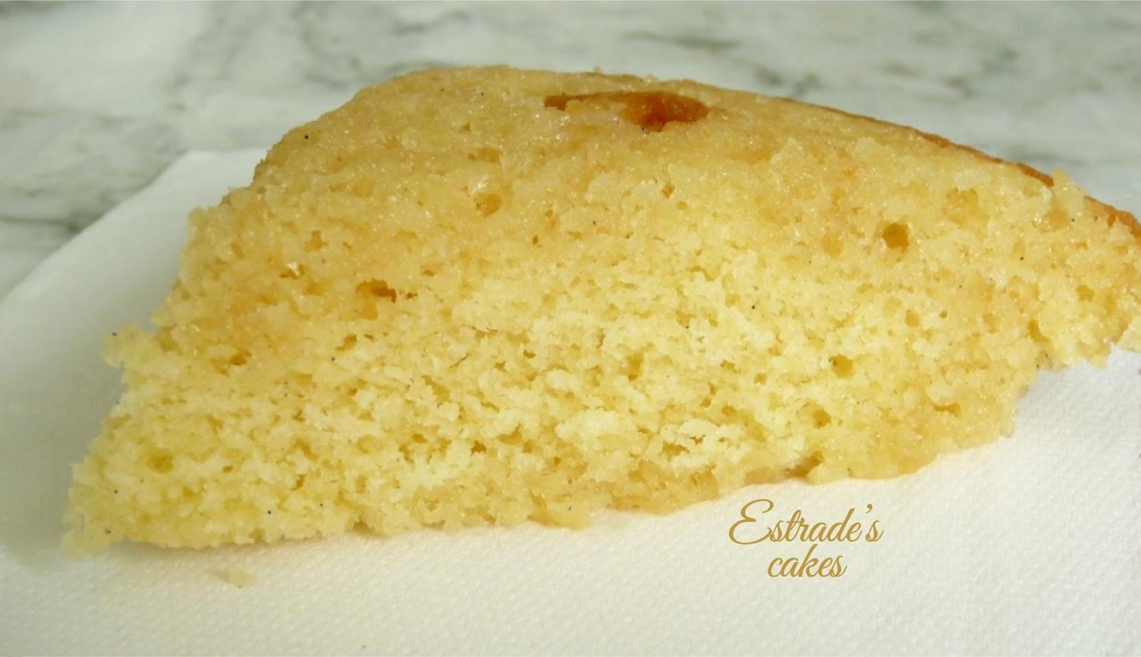 receta de bizcocho básico de tartas - corte