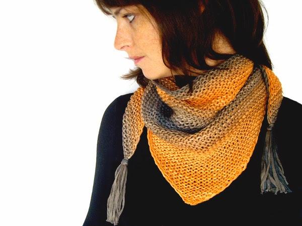 tricot-shawlette-chèche-automne-rockmylaine