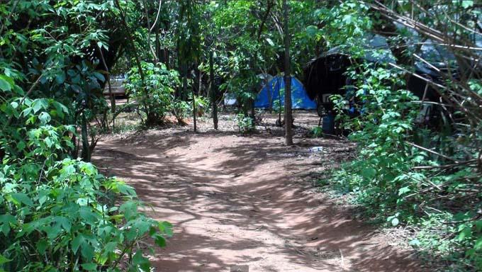 acampamento dos estudantes no Setor Noroeste em Brasília
