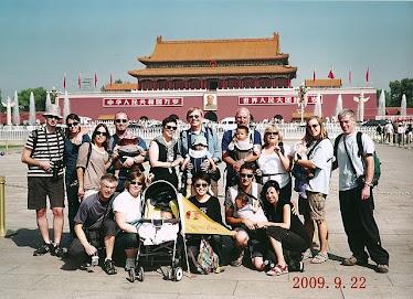 Photo de groupe lors de la visite de la cité Interdite en Chine