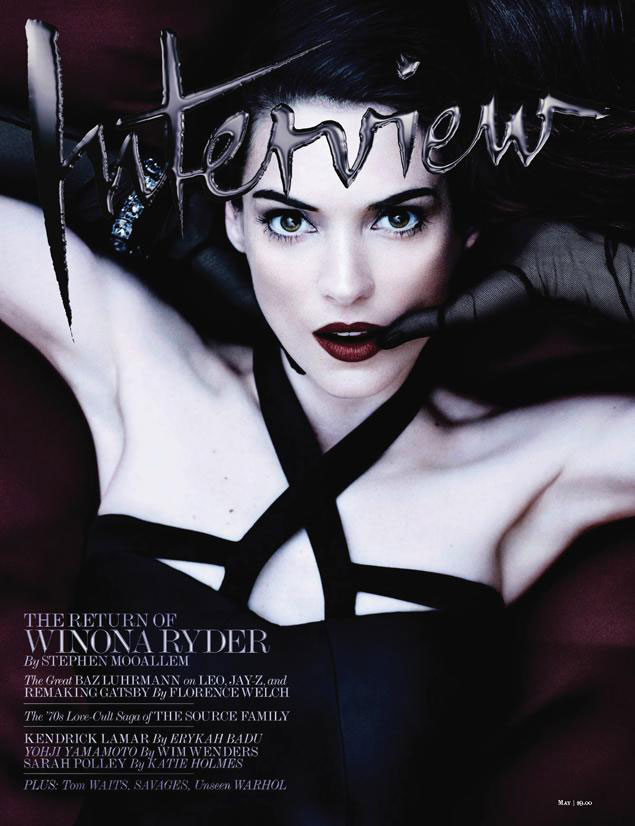 Gorgeous! ♥ Winona Ryder's Return In Interview Magazine! ♥