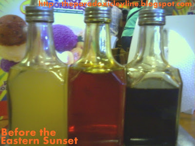 vinegar, chicken oil and soy sauce - sawsawan in Mang Inasal