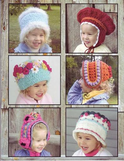 Пошаговое вязание шапочек для девочек
