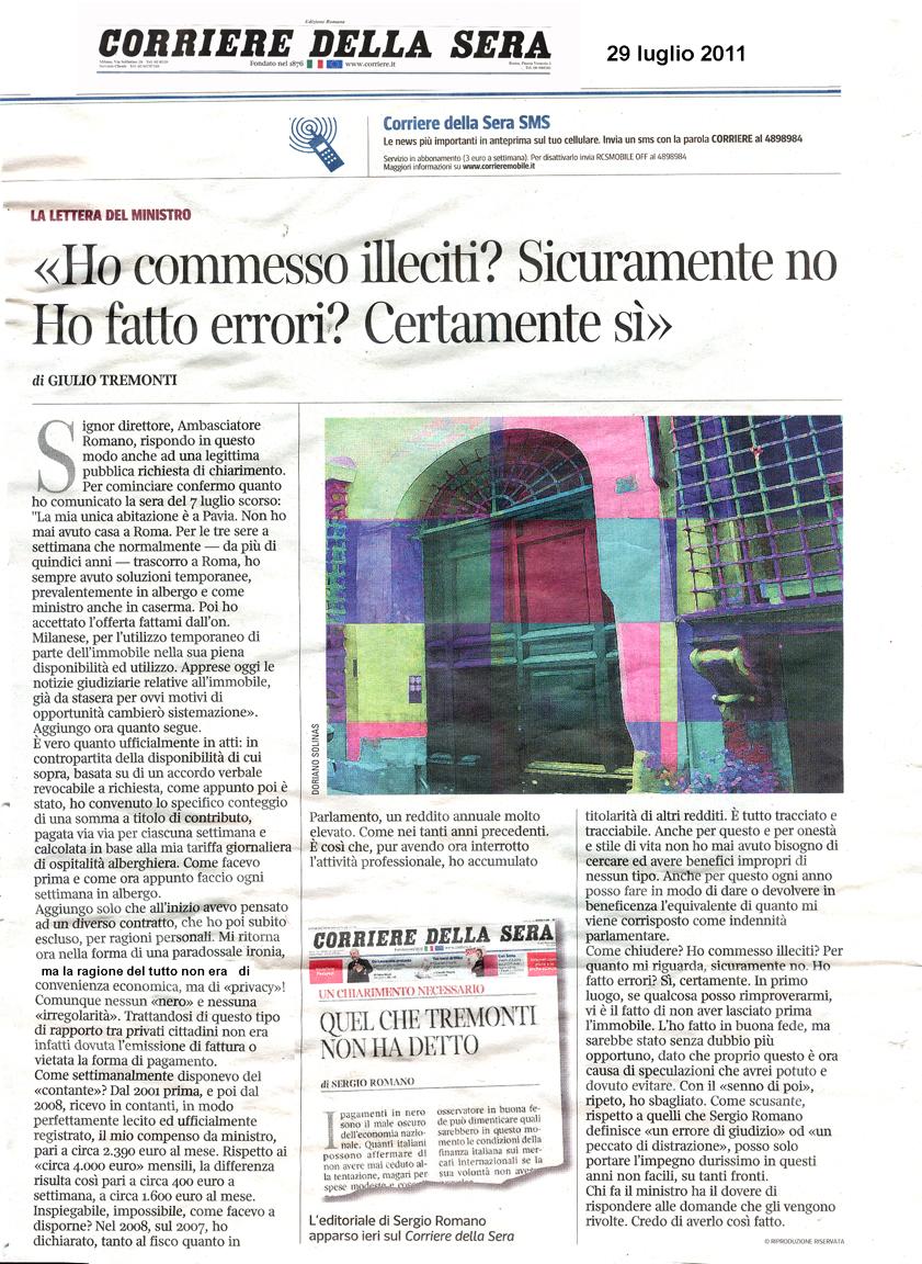 Tg roma talenti e abbiamo anche il ministro dell 39 economia for Corriere della sera casa